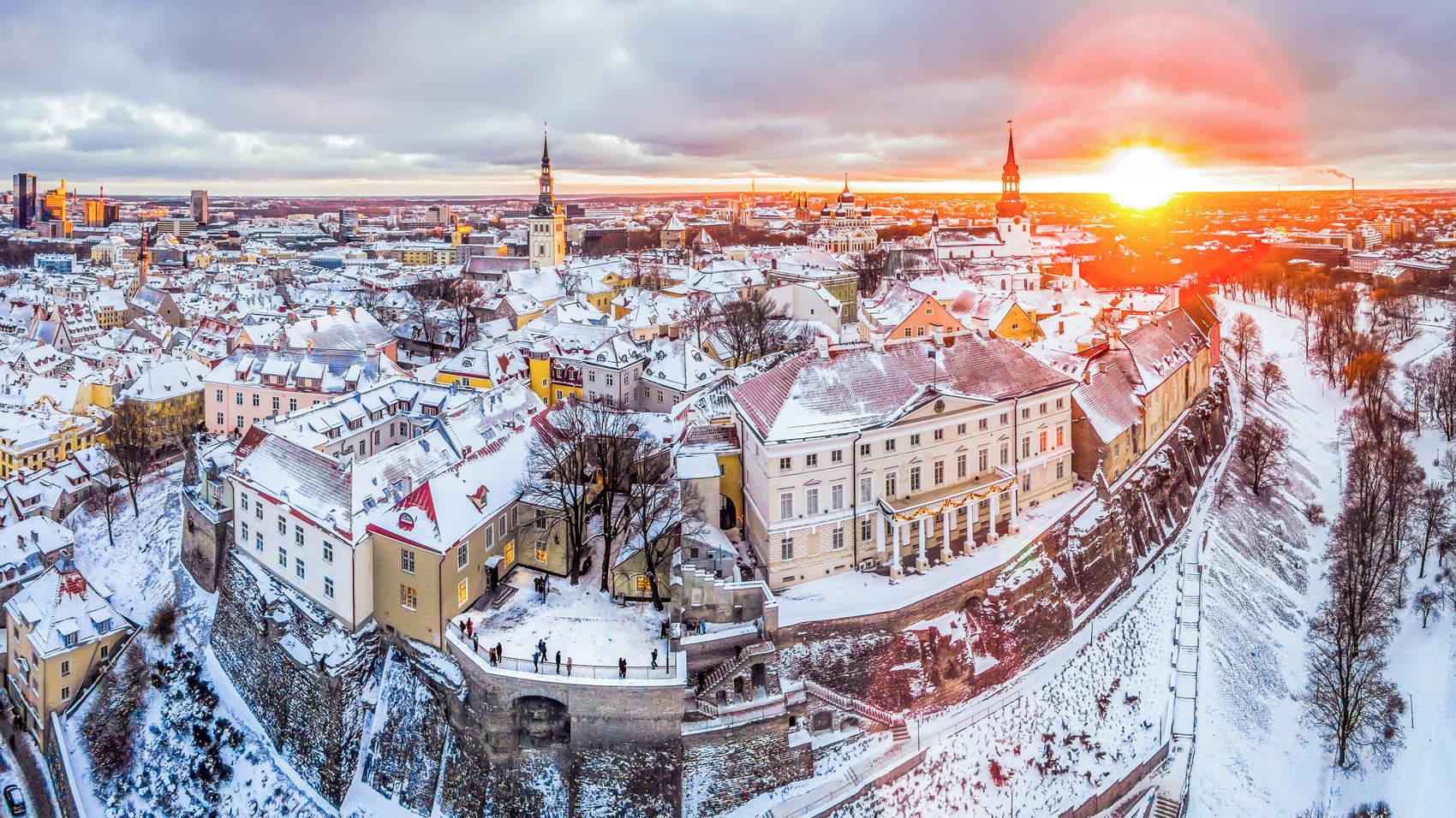 Wintery Tallinn Old Town